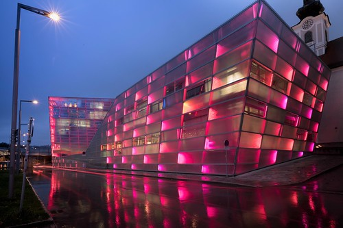 Ars Electronica Center - wet reflections