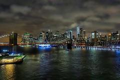 New York Night View (orkomedix) Tags: canon g1xmkiii postprocessing new york night view bridge skyline usa skylum outdoor water river brooklyn skyscrapers building