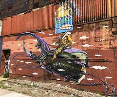 Beetle Rider by Iena Cruz (wiredforlego) Tags: graffiti mural streetart urbanart publicart aerosolart williamsburg brooklyn newyork nyc ny ienacruz