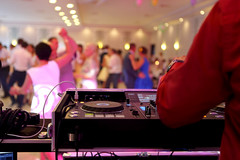 Dancing couples during party or wedding celebration (DJ Climactic) Tags: wedding dj party background celebration music dancing reception event happy white women marriage groom blur beauty people band male love happiness dinner romantic dress couple ceremony wife lights nightclub dance young decoration poland
