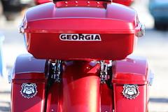Uga (Chuck Diesel) Tags: dawgs georgiabulldogs universityofgeorgia red bike motorcycle caffeineandoctane carshow atlanta uga dogs mascot