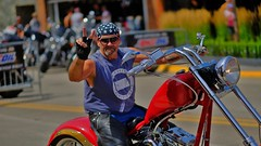 Peace Man (Tim @ Photovisions) Tags: xt2 peacesign harley fuji bike fujifilm biker cycle southdakota sturgis
