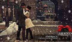 Ardent Poses - Embrace Ad (Ardent Poses) Tags: secondlife second life sl avatar 2nd 2ndlife avi virtual vr 3d inworld poses pose ardent photography people exclusive avatars event love couple couples release new hold broderick logan ena roane enaroane bento advertisement ardentposes