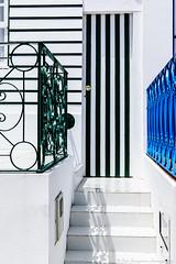 lines & curves (Jan Jungerius) Tags: portugal costanova door tür deur treppe trap stairs hek railing gitter stufen treden nikond750 tamronsp2470mm architecture architectuur architektur huis house haus