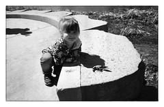 "Leona found a crawdad! (Heinz ""57"" Varieties of Cameras) Tags: leicam2 elmarit28mmf28 panf50 iso 80 iso80 homemadediafineformula"