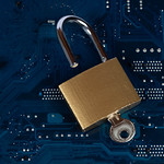 Open padlock on computer parts thumbnail