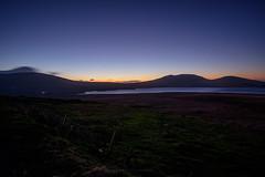 Taking the high (Mourne) road (Johans tilted tripod) Tags: mournes northernireland unitedkingdom landscape night twilight bluesky sunset fuji