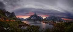 Beautiful Reine at dusk (marko.erman) Tags: lofoten norway nordland reine village fishermen sea mountains water clouds beautiful sony scenic idyllic nature outdoor outside travel popular quiet serenity drying flake pure transparency landscape nordic sunset dusk steep serene
