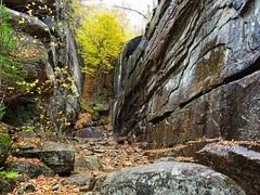 Champney falls gorge (Wicked Dark Photography) Tags: landscape luminar nh autumn boulders brook cliff fall forest gorge nature rock rocks stream tree water woods