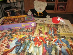 My holiest pussle! (pefkosmad) Tags: jigsaw puzzle hobby leisure pastime incomplete missingpieces secondhand vintage used towerpress ambassadorninthseries theeveofwaterloo history tedricstudmuffin teddy ted bear animal toy cute cuddly plush fluffy soft stuffed nationalpuzzleday