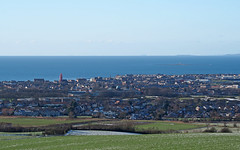 Troon seen from Dundonald Hill (cmax211) Tags: troon dundonald hill ayrshire scotland firth clyde lady isle