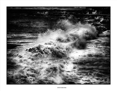 Every Breaking Wave... (michel di Méglio) Tags: olympus 45mm zuiko 18 marseille storm wave vague tempete bw silverefexpro noiretblanc monochrome