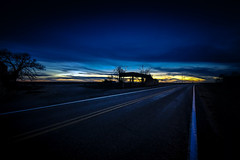 Sunset at Yeso (crowt59) Tags: new mexico sunset yeso ghost town abandoned vacant blue sky yellow highway 60 crowt59 nikon d850 sigma 1224mm ultra wide nikonflickraward