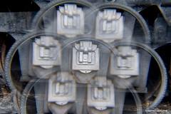 Bike tire leaning on a train wheel - Cokin (JSB PHOTOGRAPHS) Tags: nd38075 bike tire leaning train wheel 7x cokin multiimage 202 filter