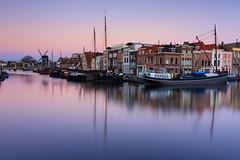 20181118-Canon EOS 6D Mark II-3769 (Bartek Rozanski) Tags: leiden zuidholland netherlands holland galgewater city town dawn nederland boat windmill historic cit