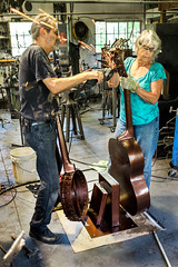 """A Tribute to Traditional Music"" assembly (R. David Smart) Tags: claycounty hayesville nc northcarolina appalachia claycountydocumentaryproject sculpture joemiller katrinamiller blacksmaith metalsculptor brasstown musicalinsturments brasstowncommunity usa ccdp"