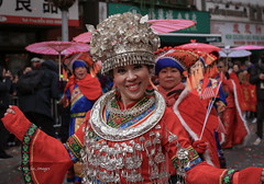 Chinese New Year 2019 NYC (tai_lee2) Tags: parade festival celebration traditional costume dance dancer people person chinese lunar year new york city street road building sign umbrella streamers decorations