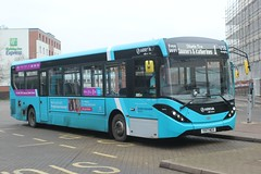 Arriva Kent Thameside / Arriva Southern Counties . 4080 YX17NGV . Harlow Bus Station , Essex . Saturday . 16th-February-2019 . (AndrewHA's) Tags: essex harlow bus station arriva kent thameside southern counties alexander dennis e20d adl enviro 200 mmc 4080 yx17ngv route 1 sumners katherine's estate town service branded 508 509 510 stansted airport