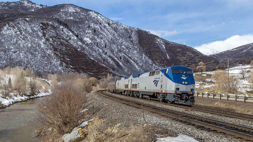 Amtrak 175 Spanish Fork River (Blackangus74) Tags: trains passenger amtrak  california zephry provo