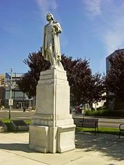 Christopher Columbus Statue (ruruproductions) Tags: statue nj atlanticcity christophercolumbus historic marble pedestal columbus