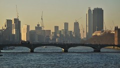 Westminster Bridge & Nine Elms Developement (brightondj) Tags: 2019february 2019 2010s london februaryheatwave river thames riverthames walktowork bridge goldenjubileebridge westminsterbridge nineelms millbank