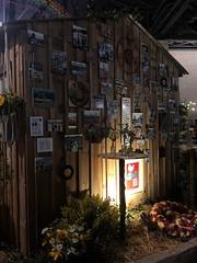 Woodstock Cabin (baccarati) Tags: flowershow phs philadelphiaflowershow flowers convention showcase philly tradeshow philadelphia pennsylvaniaconventioncenter pennsylvania woodstock cabin posters hippies peace music photos pepsi
