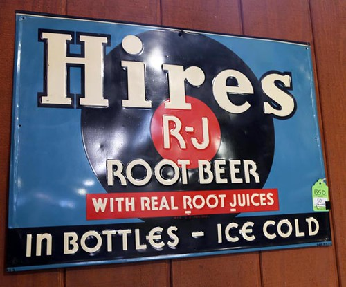Hires Root Beer Lithograph Metal Sign ($560.00)