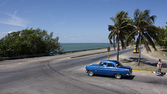 Blue Car (Loops666) Tags: car classic old blue palmtrees cuba varadero tropical island caribbean travel