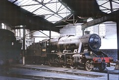 48368 in Burton on Trent MPD roundhouse April 1965 by John Wiltshire: Peter Brabham collection (peter.brabham) Tags: john wiltshire