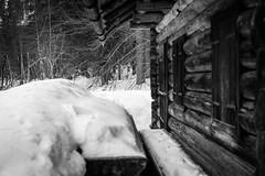 mountain hut (gotan-da) Tags: mountain winter blackwhite schwarzweiss noiretblanc blackandwhite bw monochrome