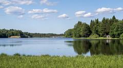 Färnebofjärden, Sweden (8-6-2018) (TijmOnTour) Tags: river summer water forest trees hiking sweden nationalpark sunny view landscape dalälven remote sky clouds cabin nature