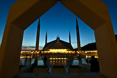 My last evening's adventure. (Agha Asif Ali) Tags: mosque faysal pakistan islamabad night evening lights travel photography asif blue sky lowlight frame shine glare tiles people shadows muslim culture margalla hills minarates design architecture turkish capital city nikon d7200 tokina 1116mm longexposure crescent aghaasifali hobby