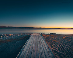 morning. Mono Lake (songallery) Tags: songallery usa wilsonlee leevining california unitedstates us monolake easternsierra sunrise morning dawn magichour pier dock sky landscape landscapes peaceful silent tranquil quiet beach coast
