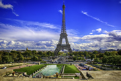 Paris Vista (Steve Mitchell Gallery) Tags: landscape landscapes urbanlandscape urbanlandscapes paris eiffeltower landmark monument blueskies clouds travel
