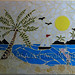 """""""Sunny Day at the Beach"""" by Taleeah, mosaic, $120.00"""