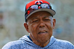 The Legendary 81-Year-Old Tony Oliva -- Minnesota Twins Spring Training (forestforthetress) Tags: man face hat glasses eyes portrait baseball tonyoliva minnesotatwins fortmyershammondstadium omot nikon people