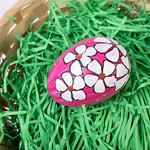 Hand painted egg in a basket thumbnail