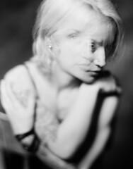 Tatjana (Braca Nadezdic) Tags: blackandwhite bw analog aeroektar graflex speedgraphic studio negative kodaktrix320 4x5 largeformat