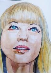 Sara Cox (Utopist) Tags: i watercolour watercolor sara cox dj radio2 women portrait
