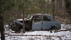 FiatSide (www.vanishingnewengland.com) Tags: abandoned car vehicle truck rust junk fiat suicide doors european