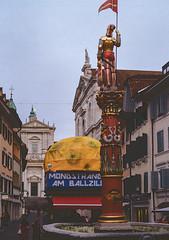 St. Ursen Fountain (Bephep2010) Tags: 2019 brunnen kathedrale kodakgold minolta minoltamd50mm114 minoltax700 photoexif schweiz solothurn stursen switzerland winter x700 analog analogue cathedral fountain kantonsolothurn ch