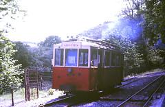Slide 135-71 (Steve Guess) Tags: tram tramway streetcar strassenbahn strasenbahn трамвай nmvb sncv vicinal belgium belgique belgien belgië бельгия grottes han caves diesel ardennes hansurlesse