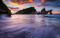 Sunrise at Atuh (djflexkid) Tags: nusapenida landscape bali nature water things outdoor indonesia sea beach atuh travel colours waves clouds sky seascape nikon sunrise places rocks