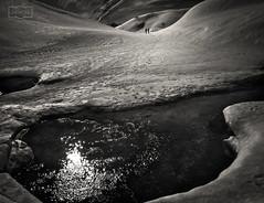 Lo que dejamos detrás/What we leave behind (Jose Antonio. 62) Tags: spain españa mountains montañas nieve snow reflection reflejo bw blancoynegro blackandwhite