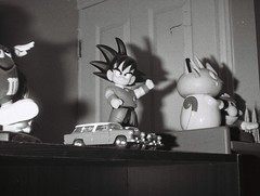 Son Goku (Matthew Paul Argall) Tags: hanimex110if fixedfocus 110 110film subminiaturefilm lomographyfilm 100isofilm blackandwhite blackandwhitefilm songoku dragonballz anime bedroom