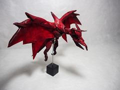 Spiked Wyvern (Ivan Danny) Tags: origami dragon wyvern scaled creature beast craft papercraft inexplore original design