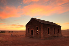 Bondleigh Hall Sunset (Darren Schiller) Tags: bondleigh hall australia abandoned architecture building closed clouds derelict disused decaying deserted dilapidated empty evening history heritage old rural rustic ruin sunset southaustralia