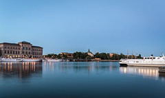 Blue hour in Stockholm I (PhredKH) Tags: 2470mm bluehour canoneos5dmkiii canonphotography cityofstockholm cityscape ef2470mmf4lisusm fredkh photosbyphredkh phredkh splendid stockholm boats sea sky water