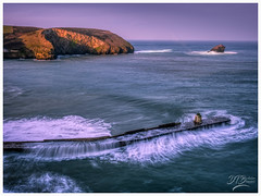 Portreath Harbour (deannno) Tags: portreath harbourwall waves longexposure blue earlymorning coast atlantic ocean sea portreathharbour cornwall uk olympus olympuspenf penf olympusm17mmf18