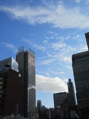 2019 February Building Cloud Reflection 2568 (Brechtbug) Tags: 2019 february afternoon light again virtual clock tower from hells kitchen clinton near times square broadway nyc 02272019 new york city midtown manhattan winter weather building breezy cloud hell s nemo southern view